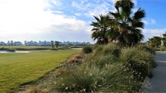 The golf course (fifteenth hole) at La Torre Golf Resort, Murcia.