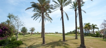 Golf course at Mar Menor Golf Resort, Murcia.