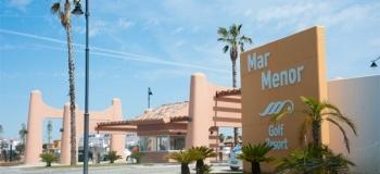 Front entrance to Mar Menor Golf Resort 2, Murcia, Spain.
